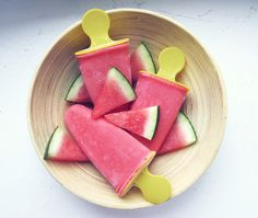 Watermelon & strawberry & yoghurt ice pops #icepop #icelolly #popsicle