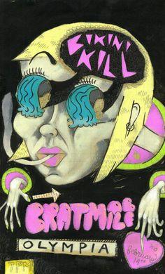 Bikini Kill and Bratmobile in Olympia, poster