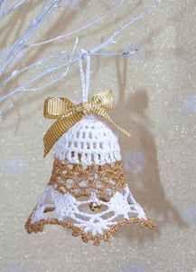 Crochet Christmas Ornaments, Christmas Crochet Patterns, Christmas Bells, Christmas Art, Christmas Decorations, Holiday Decor, Xmas, Crochet Lace Edging, Crochet Doily Patterns