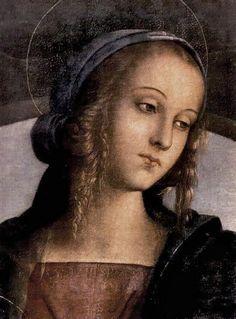 Icono religioso en estilo magnífico por El Perugino.