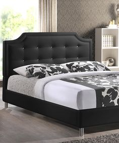 Another great find on #zulily! Black Modern Carlotta Full Bed Frame by Baxton Studio #zulilyfinds