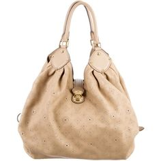 f40263b2bb02 Pre-owned Louis Vuitton Mahina XL Hobo ($1,475) ❤ liked on Polyvore  featuring