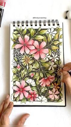 Watercolor Art Lessons, Watercolor Paintings, Watercolour, Small Canvas Art, Mini Canvas Art, Posca Art, Art Painting Gallery, Doodle Art Designs, Art Drawings Sketches Simple