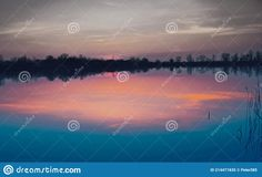 Photo about Natural gravel lake. Photographed at sunset. Slovakia. Image of forest, lake, coast - 214471835 Coast, Sunset, Natural, Image, Sunsets, Nature, The Sunset, Au Natural