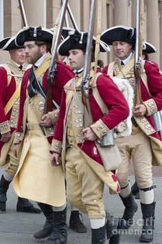 Colonial soldiers marching in Chester, Cheshire, UK