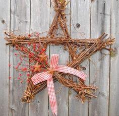 Grapevine Star Wreath by Stylishstems on Etsy
