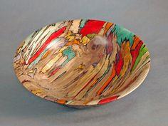 Earl Kennedy ~ dyed wood bowl