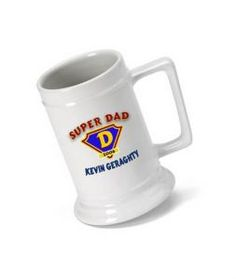 Great Unique Personalized Gift Ideas. Super Dad Beer Stein http://www.greatuniquegiftideas.com/product/super-dad-beer-stein/ Check more at http://www.greatuniquegiftideas.com/product/super-dad-beer-stein/