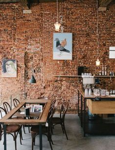 Simple and Impressive Tricks Can Change Your Life: Small Industrial Cafe industrial ceiling new york. Loft Interior, Cafe Interior Design, Cafe Design, Design Design, Brick Interior, Interior Ideas, Cafe Industrial, Industrial Coffee Shop, Industrial Windows