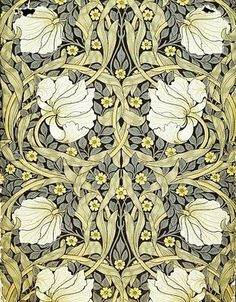 Morris & Co Thistle Wallpaper , Mulberry / Linen  http://www.johnlewis.com/sanderson-william-morris-thistle-wallpapers