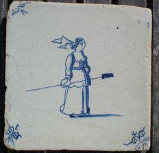 Antieke tegel met Heks ? Delft Tiles, Antique Tiles, Clay Tiles, Friend Tattoos, White Tiles, Mosaics, Ornament, Miniatures, Meme