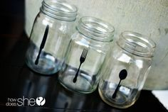 alison sihouette cutlery oct2012 (11)  how does she-silhouette decorated jars