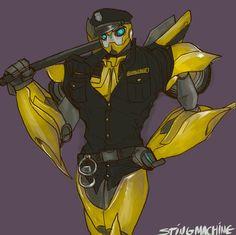 Transformers Prime Police Bumblebee by massive-destruction on deviantART