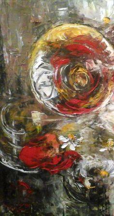 """pictura ulei pe panza""""Simfonia verii"""""""