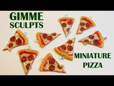 Gimme Sculpts: Polymer clay Pizza charms - YouTube