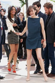 Marion Cotillard and Zoe Saldana | 'Blood Ties' Photocall - The 66th Annual Cannes Film Festival [May 20th, 2013]