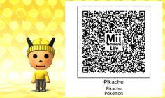Tomodachi Life Qr code Pikachu