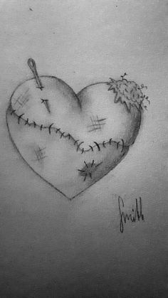 Sad Sketches, Sad Drawings, Dark Art Drawings, Pencil Art Drawings, Art Drawings Sketches, Drawings Of Sadness, Drawings Of Hearts, Drawings About Love, Drawings With Meaning