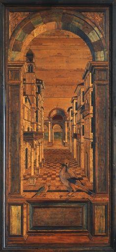 Fra' Giovanni de Verona, Panel del Coro en taracea de madera. Renacimiento…