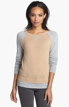 Halogen® Cashmere Crewneck Sweater (Regular & Petite) available at #Nordstrom