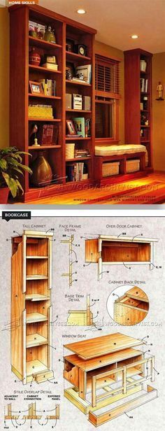 Built-in Bookcase Plans - Furniture Plans and Projects   WoodArchivist.com