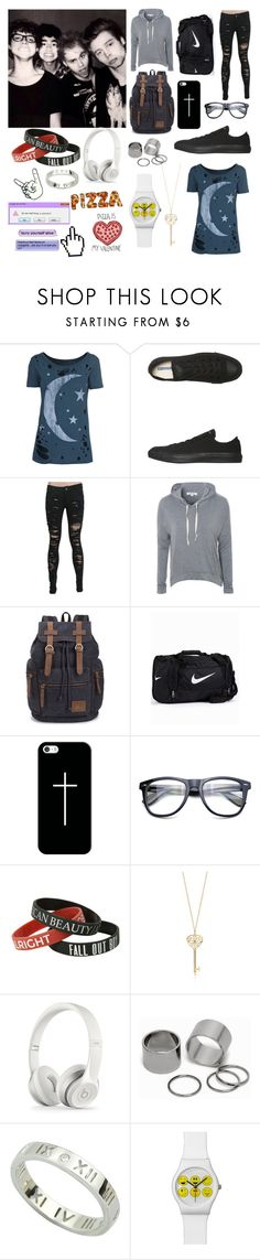 """Visiting Australia with 5sos"" by bakemona13 ❤ liked on Polyvore featuring Chaser, Converse, Glamorous, NIKE, Casetify, Pieces and Prada"