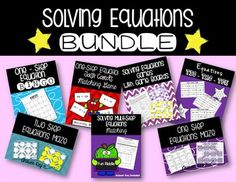 In this bundle pack you get 7 different products! All of the activities are aligned to 7th grade common core standards and vary in difficulty making it easy to differentiate. I hope you enjoy this bundle with fun equations practice. If you were to purchase each of these products separately it would cost $13.00 and you are able to purchase it for Algebra Equations, Solving Equations, Common Core Standards, Differentiation, Teacher Resources, Activities, Fun, Easy, Products