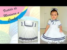 Crochet Diy, Crochet Girls, Crochet Solo, Toddler Dress, Baby Dress, Diy Vestido, Girls Dresses, Summer Dresses, Baby Boy