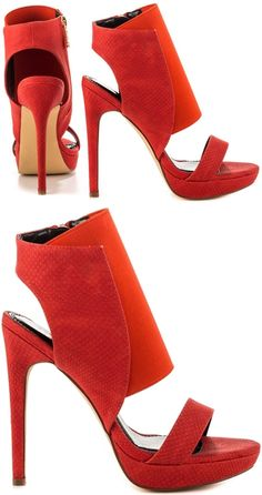 bf848ff196d1d8 Show up the competition in the Misty Ace. This fabulous look by Liliana  features a thick elastic upper with bright red faux leather.
