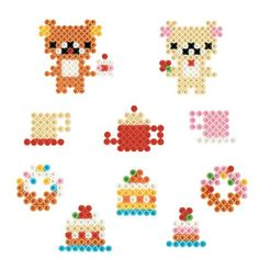 Amazon.co.jp | parlor beads San-X Rilakkuma & Cafe made is you set 80-54630 | Toys mail order
