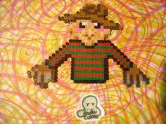Freddy Krueger Perler Bead Art. $5.00, via Etsy.