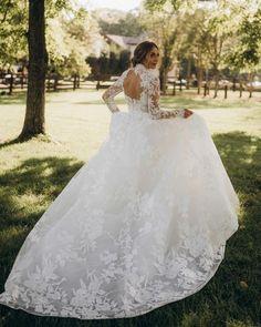 30 Chic Long Sleeve Wedding Dresses ❤ long sleeve wedding dresses ball gown open back lace moniquelhuillier #weddingforward #wedding #bride #weddingoutfit #bridaloutfit #weddinggown
