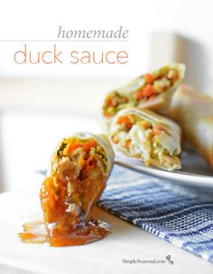 Homemade Duck Sauce - Are you a fan of duck sauce? You'll never believe how easy it is to make an all-natural duck sauce at home that blows away the artificial stuff. Pin it for the next time you make a savory Asian dish.