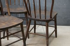 want these in distressed black around a farmhouse table! the junkier, the better!