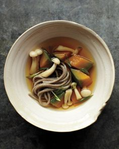 Japanese Squash-and-Soba-Noodle Soup Recipe
