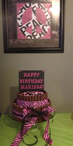 Girly Kit Kat cake. Turned out great!