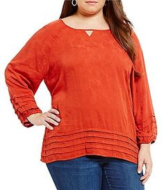 Westbound Plus Tiered Peasant Top