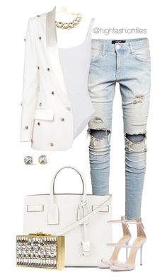 """""""Untitled #2719"""" by highfashionfiles on Polyvore featuring Yves Saint Laurent, Kate Spade, Eres, Racil and Elie Saab"""