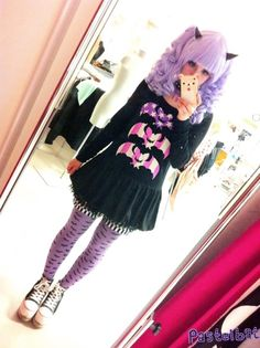 Pastel Goth Fashion / Gothic Girl / Lolita / Black Outfit / Jewelry / Pastel Pink Hair / Cosplay // ♥ More @lDarkWonderland