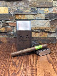 Personalized Stainless Steel Cigar Case with Guillotine Cutter - Groomsman Gifts - Gifts for Him - Anniversary - Fathers Day - Birthday