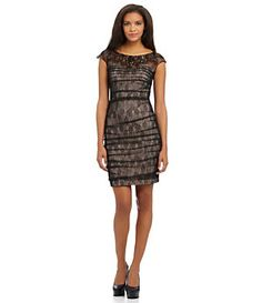 Jessica Simpson Ruched Lace Dress