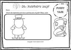 St. Patrick Funny Pack for Kids - Easy readings - Funny Tasks