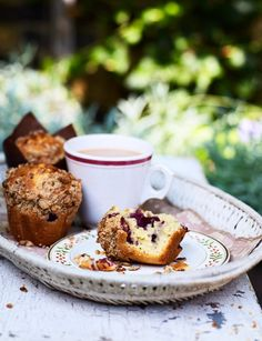Cherry and lemon muffins with muesli crumble. Get your Bake Off on!