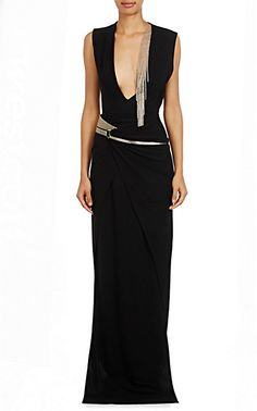 We Adore: The Embellished Silk Jersey Wrap Gown from Lanvin at Barneys New York
