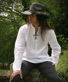 427 - Bohemia Shirt (Ivory, Black, Brown)
