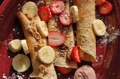palate/palette/plate: Dessert for Breakfast crepes Crepes, Almond Milk Recipes, Whole Wheat Pancakes, Good Food, Yummy Food, Delicious Dishes, Yummy Eats, Fun Food, Delicious Recipes