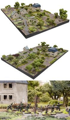 Craig2's Carentan. Warhammer Terrain, 40k Terrain, Game Terrain, Wargaming Table, Wargaming Terrain, Bolt Action Miniatures, Lead Adventure, Modeling Techniques, Military Modelling