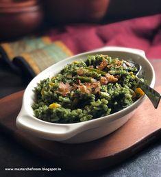 MASTERCHEFMOM: Palak Makai Rice Recipe | Indian Style  Spinach Co...
