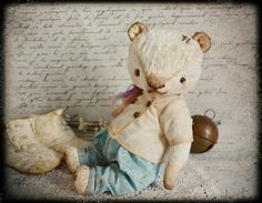 White bear  - ooak 10.3 inch artist teddy bear
