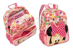 Code: 01820. Minnie Mouse Clubhouse Backpack for Girls. Fruit lovers will be sweet on this Minnie Mouse Clubhouse Backpack. The all-over print features colorful favorites like oranges, strawberries and pears, while Minnie will watch your back beneath a giant 3-D polka dot bow. - To order: http://www.shopaholic.com.ph/#!/Minnie-Mouse-Clubhouse-Backpack-for-Girls/p/51995329/category=6708179